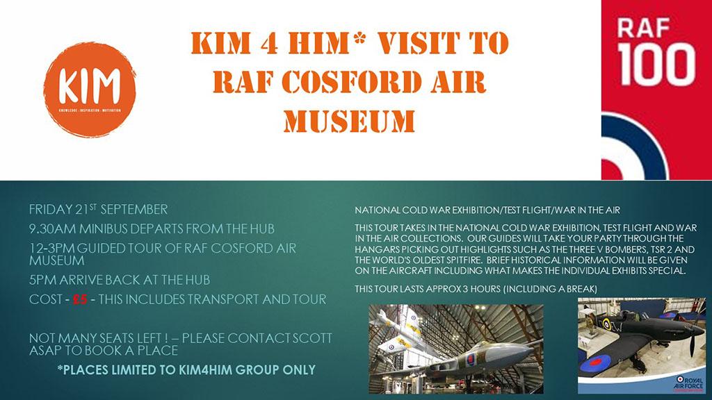 RAF Crossford visit mental health charity KIM