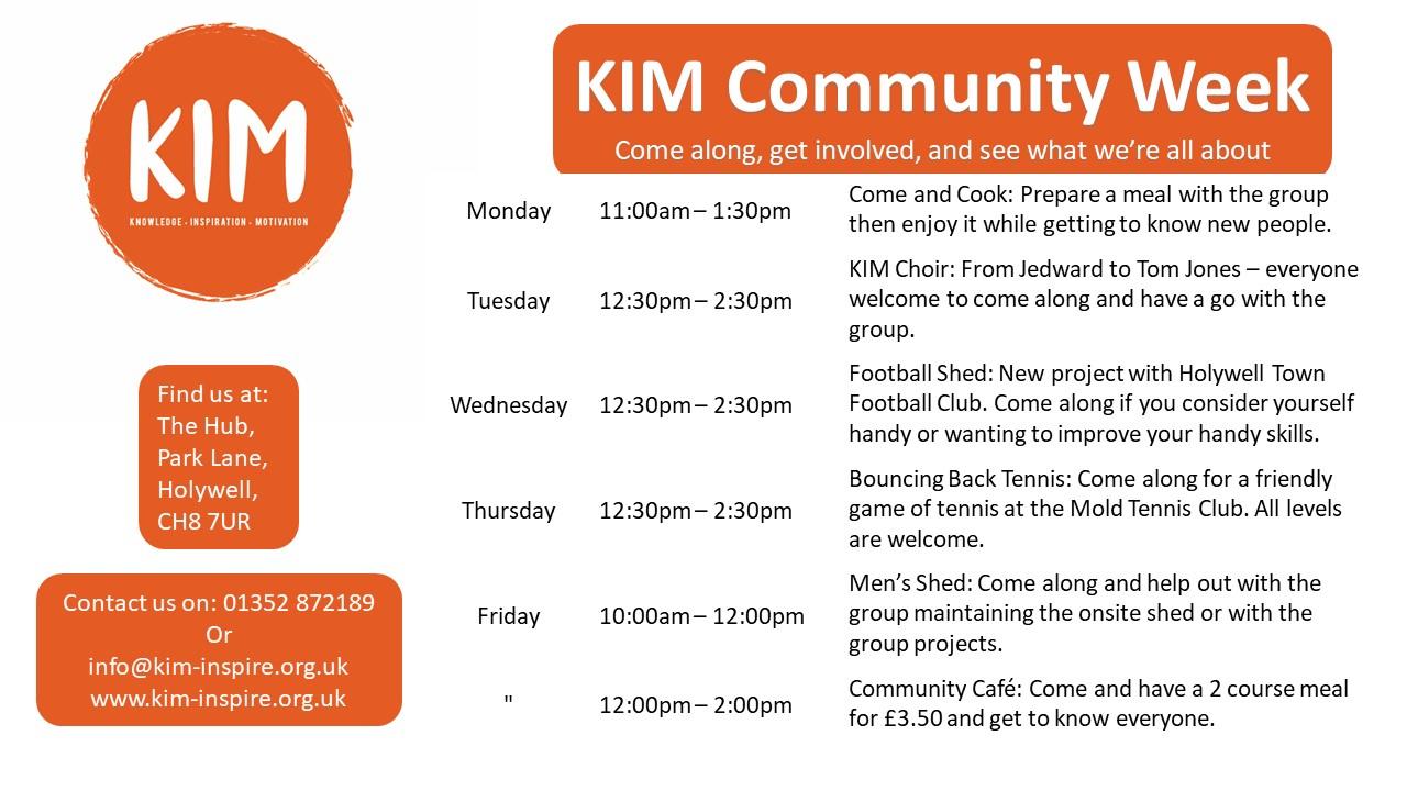 KIM Community Weekly Activities Flintshire